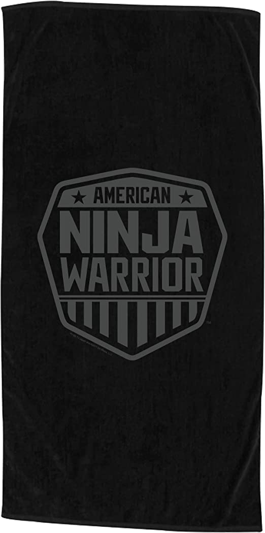 Amazon.com: American Ninja Warrior Black Beach Towel - 30x60 ...