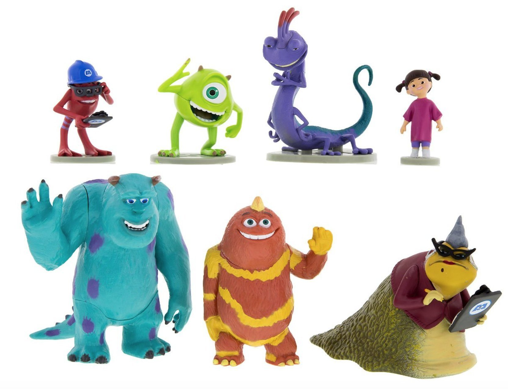 Disney Parks Monsters Inc. Collectible Figurine Playset Play Set Cake Topper by Disney