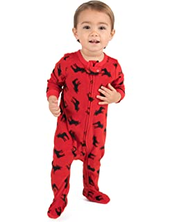 0589e8d6ac Leveret Fleece Baby Boys Girls Footed Pajamas Sleeper Kids   Toddler Christmas  Pajamas (3 Months