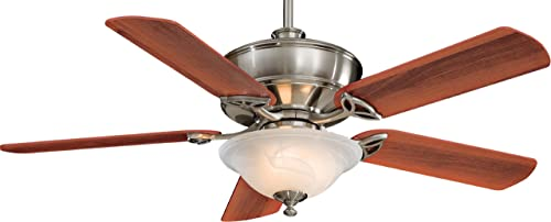 Minka-Aire F620-BN, Bolo Brushed Nickel 52 Ceiling Fan with Light Remote Control