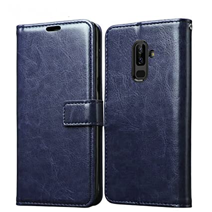 new concept 9f819 0e371 XORB Samsung Galaxy A6 Plus Flip Cover Leather Case Luxury Revel Touch  Leather Cover for Samsung Galaxy A6 Plus (Blue)