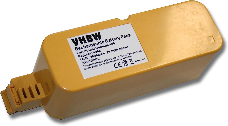 vhbw Batería NiMH 2000mAh (14.4V) para aspirador Vileda M-488a ...