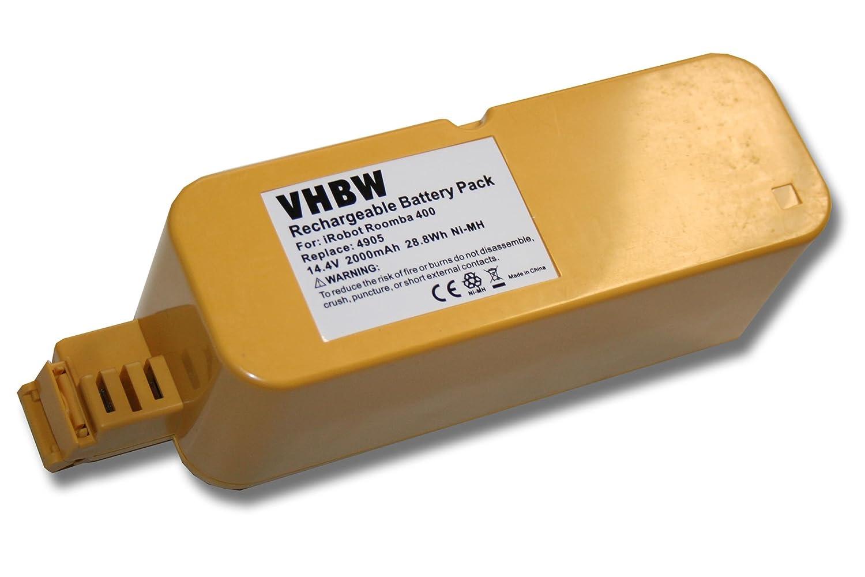 vhbw Batería NiMH 2000mAh (14.4V) para aspirador Vileda M-488a como APS 4905.: Amazon.es: Hogar