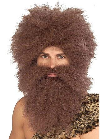 Amazon.com: Juego de peluca y barba para hombre con diseño ...