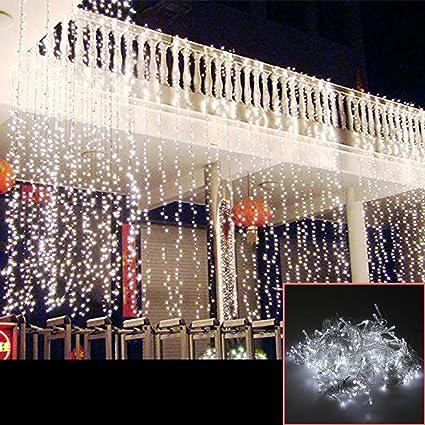 AGPTEK 3Mx3M 416LED Linkable Fairy Curtain Lights Strings Connectable Lights  8 Lighting Modes for Wedding Ceremony - AGPTEK 3Mx3M 416LED Linkable Fairy Curtain Lights Strings