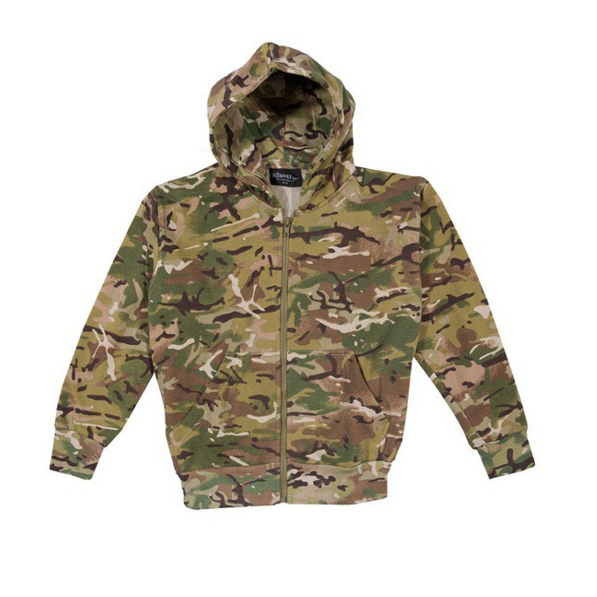 Kombat Kids Army Style Hoodie BTP Camo Airsoft Cadet COMBAT