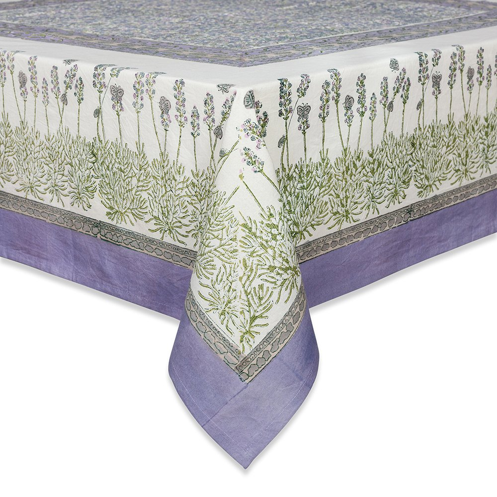 Couleur Nature 71-inches by 106-inches Lavender Tablecloth, Purple