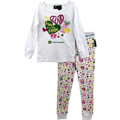634102985bea Amazon.com  John Deere Toddler and Girls Pajamas Set  Pants Pajamas ...