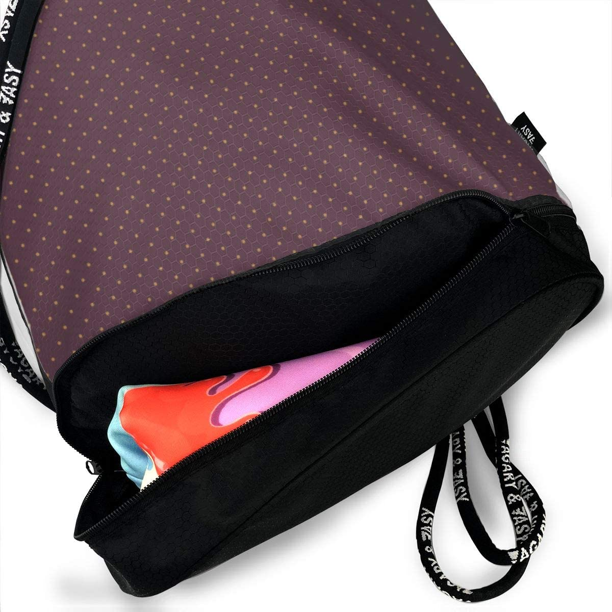 Swiss Peanut Butter Jelly Drawstring Backpack Sports Athletic Gym Cinch Sack String Storage Bags for Hiking Travel Beach