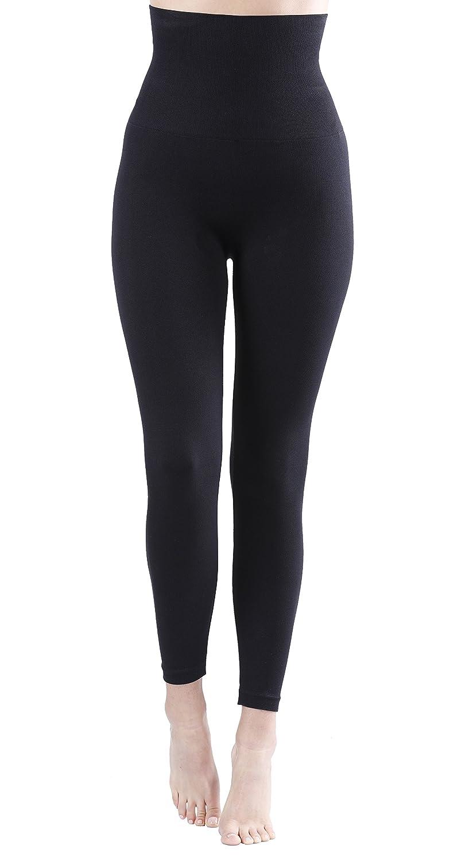 Damen Shapewear Slim Leggings, Taillen-Leggings, Bauchweg Miederhose,  schwarz  Amazon.de  Bekleidung 5e9c1b9acb