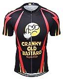 Baisqi Mens Short Sleeve Cycling Jersey Funny Bike