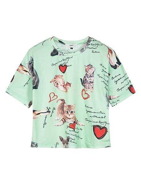 dcb3c465f70 Amazon.com  PERSUN Women s Summer Cute T Shirt Junior Tops Teen ...