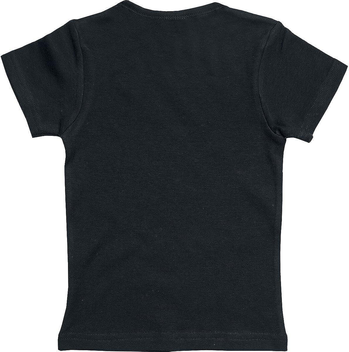 Nirvana Smiley Infantil de Camiseta Negro