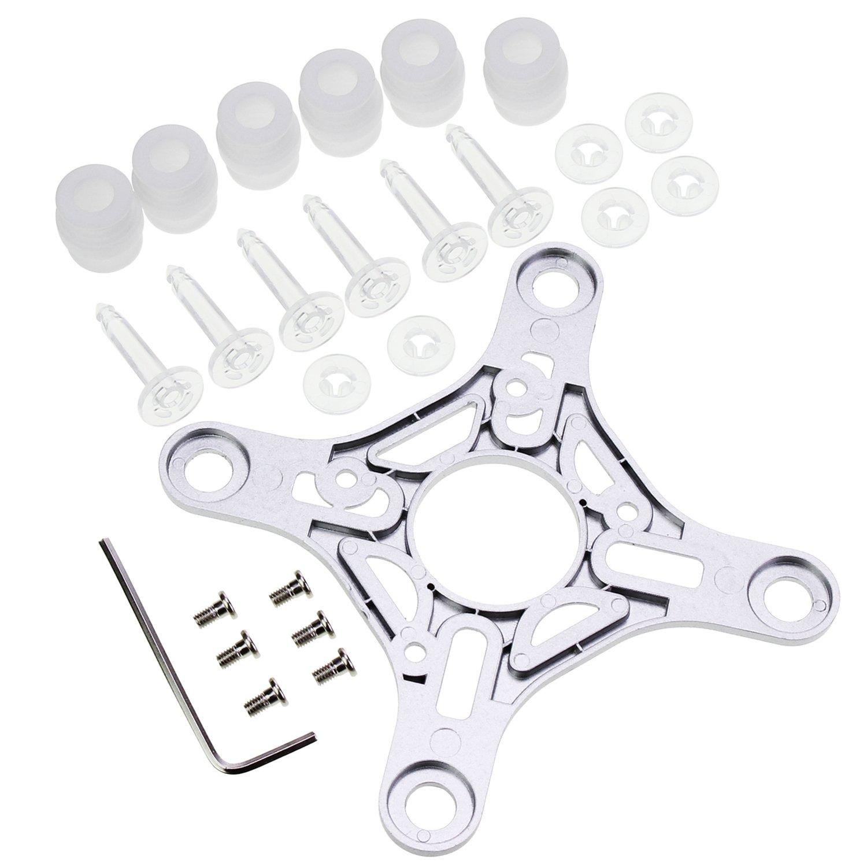 Keesin Gimbal piastra di montaggio gomma Damping Ball White antivibrazione palle elastico ammortizzatore kit perni per DJI PHANTOM3 standard