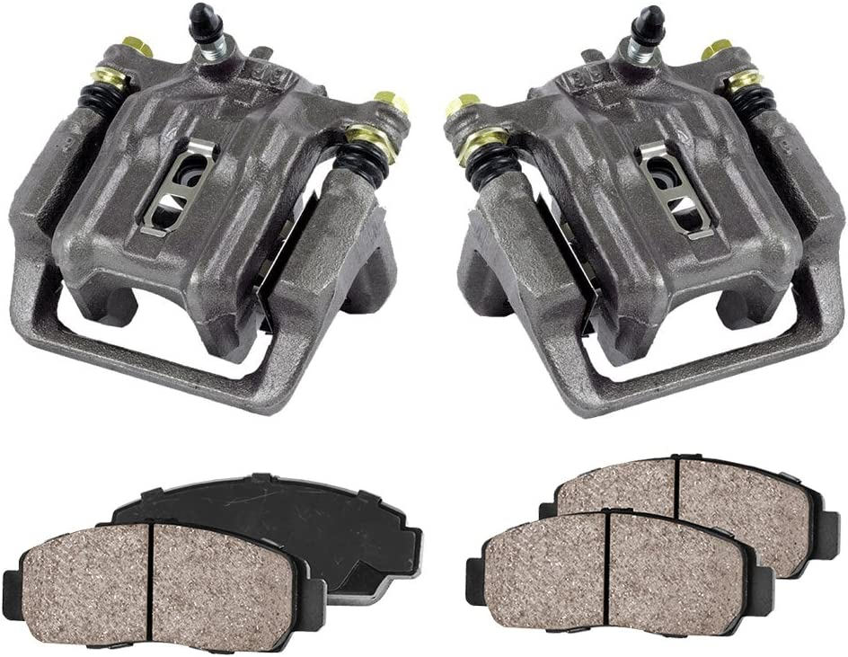REAR Premium Loaded OE Caliper Assembly Set + 2 CCK02379 4 Quiet Low Dust Ceramic Brake Pads