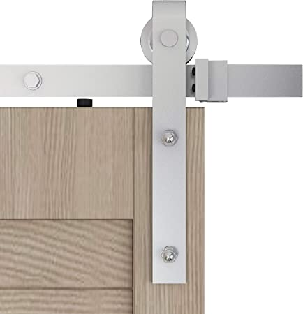 Amazon Com Diyhd 5ft Exterior Sliding Barn Door Hardware Heavy Duty Metal Wheel Raw Material Dacromet Coating Rolling Kit For Indoor And Outdoor Home Improvement