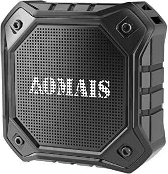 AOMAIS Ball Bluetooth Speakers,Wireless Portable Bluetooth 4.2,15W Superior Sound with DSP,Stereo Pairing for Surround Sound,Waterproof Rating IPX7,for Sports,Travel,Shower,Beach,Party Black