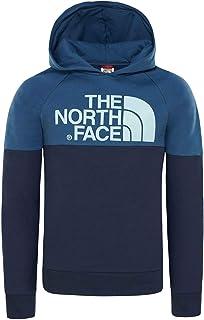 The North Face Drew Peak Felpa con Cappuccio, Unisex Bambini, Blu/Cosmic Blue/Shady Blue, M