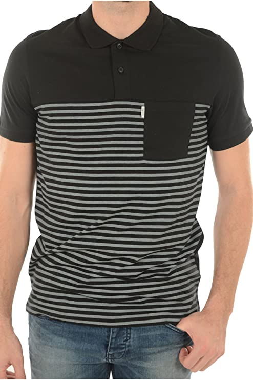 Jack & Jones Core Abril Polo SS, negro, gris: Amazon.es: Deportes ...