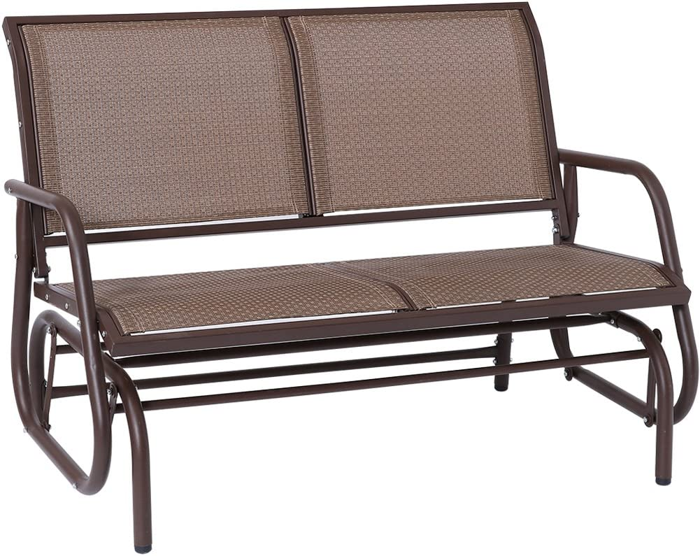 SUPERJARE Outdoor Swing Glider Chair Patio Bench for 2 Person Garden Rocking Seating -  sc 1 st  Amazon.com & Amazon.com: Gliders - Chairs: Patio Lawn u0026 Garden