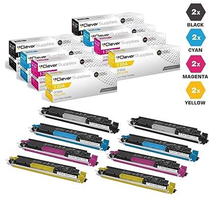 4462adfc79a8 CS Compatible Toner Cartridge Replacement for HP M176 CF350A Black CF351A  Cyan CF352A Yellow CF353A Magenta