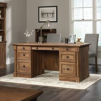 executive classic hill cherry sauder heritage neoteric at menards desk