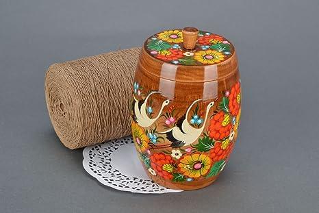 Caja para cocina pintada al oleo
