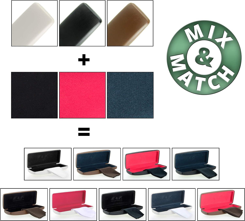 Edison /& King Resistente Estuche para Gafas en Muchos Colores Incluye pa/ño para Limpieza de Gafas Gratis Tambi/én apropiado como Estuche para Gafas de Sol