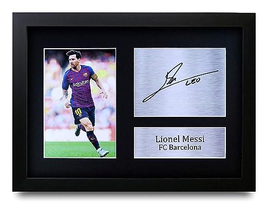 HWC Trading Lionel Messi A4 Enmarcado Regalo De Visualización De ...