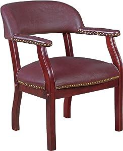 Regency Ivy League Capain Chair, Eggplant