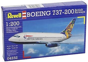 Revell 04232 - Maqueta de Boeing 737-200 (escala 1:200 ...