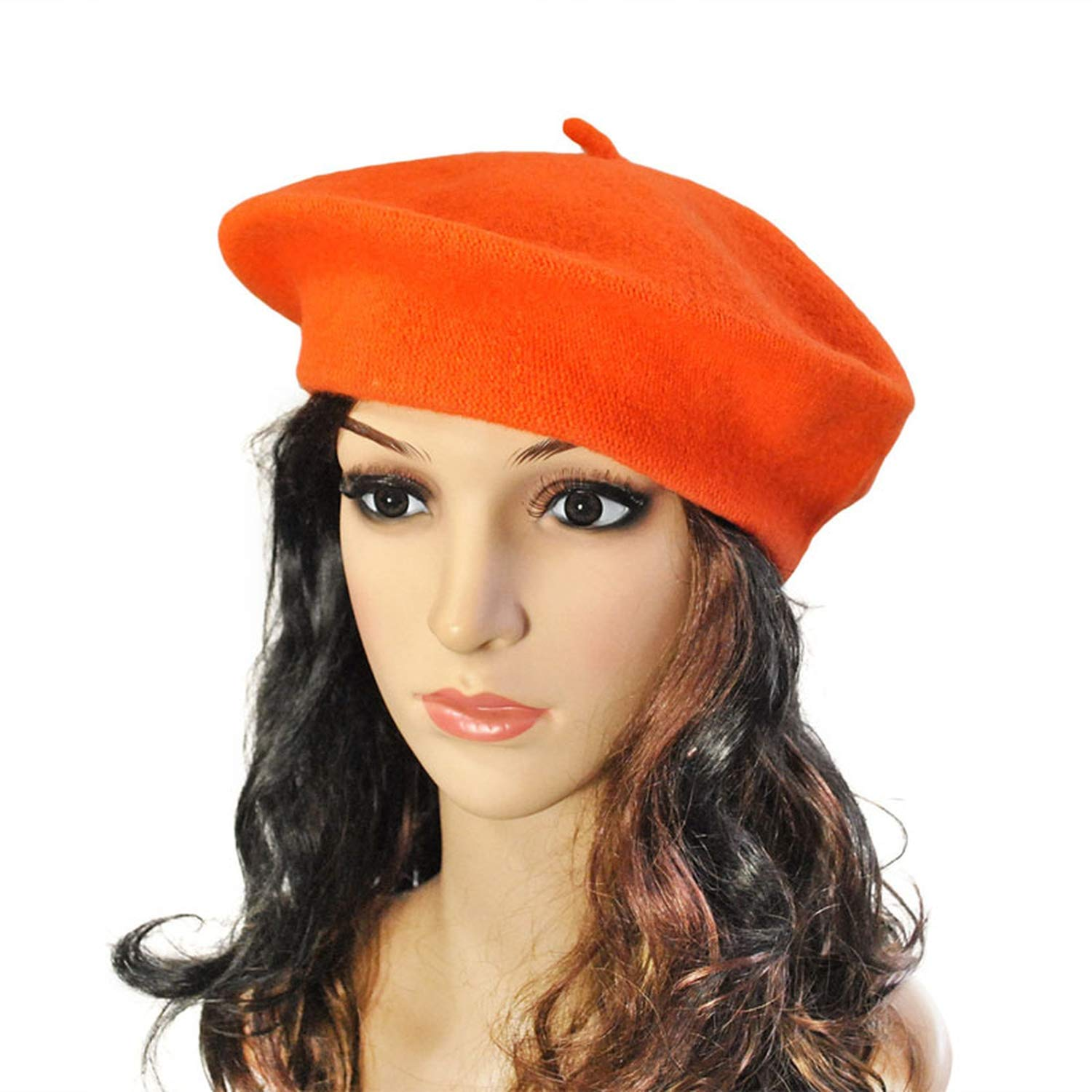Chad Hope Solid Color Warm Wool Winter Women Girl Beret French Artist Beanie Hat Cap for Female