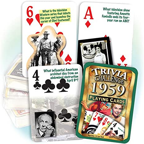 Flickback 1959 Trivia Playing Cards: Birthday