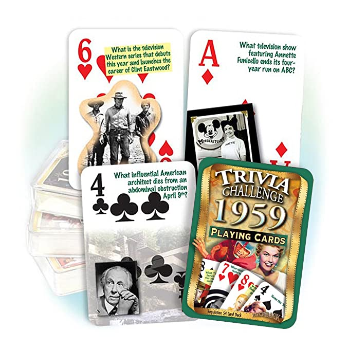 Amazon.com: flickback 1959 Trivia Juego de cartas: Great ...
