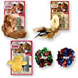 HDP Catnip Kong Refillable Cat Toy Set Color:Set of 5