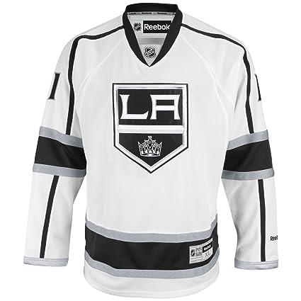 24aa6637463 Amazon.com : Reebok Anze Kopitar Los Angeles Kings White NHL Premier ...