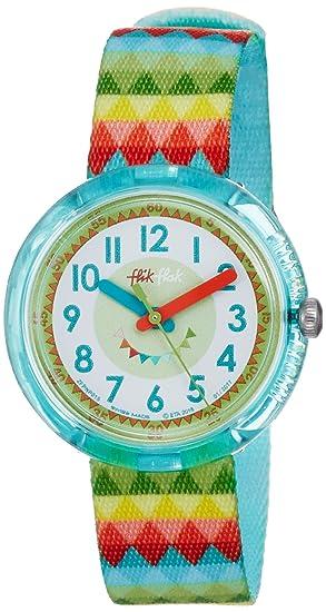 Flik Flak Reloj Analogico para niñas de Cuarzo con Correa en Tela FPNP015: Amazon.es: Relojes