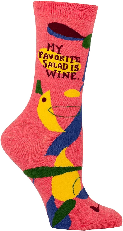 My Favorite Salad Is Wine Womens Crew Socks