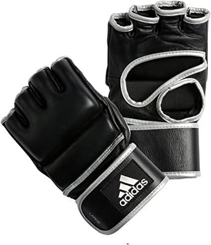adidas Professional Leather MMA Gloves Grappling Training Gloves AntiSlip Fabric