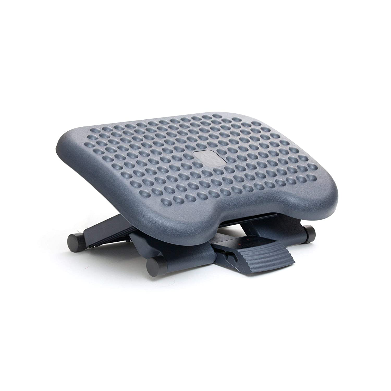 Mind Reader Adjustable Height Ergonomic Foot Rest, Black Renewed