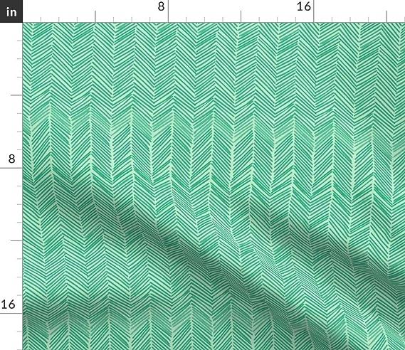 Amazon.com: roostery verde menta flechas Herringbone borde ...