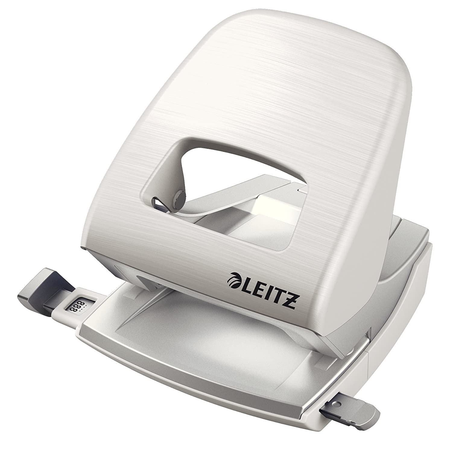 Leitz Hole Punch, 30 Sheets, Guide Bar with Format Markings, Metal, Style Range, 50060028 - Garnet Red Esselte