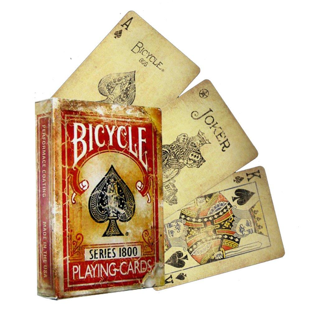 Bicycle bv1800cr - 52 Cartas de Juegos tamaño Poker, 2 Jolly ...