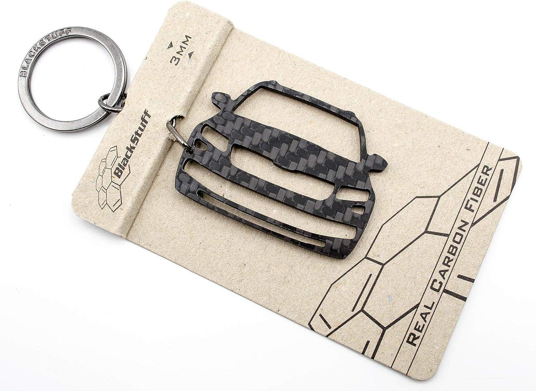 Blackstuff Carbon Karbonfaser Schlüsselanhänger Kompatibel Mit Kodiaq Bs 844 Auto
