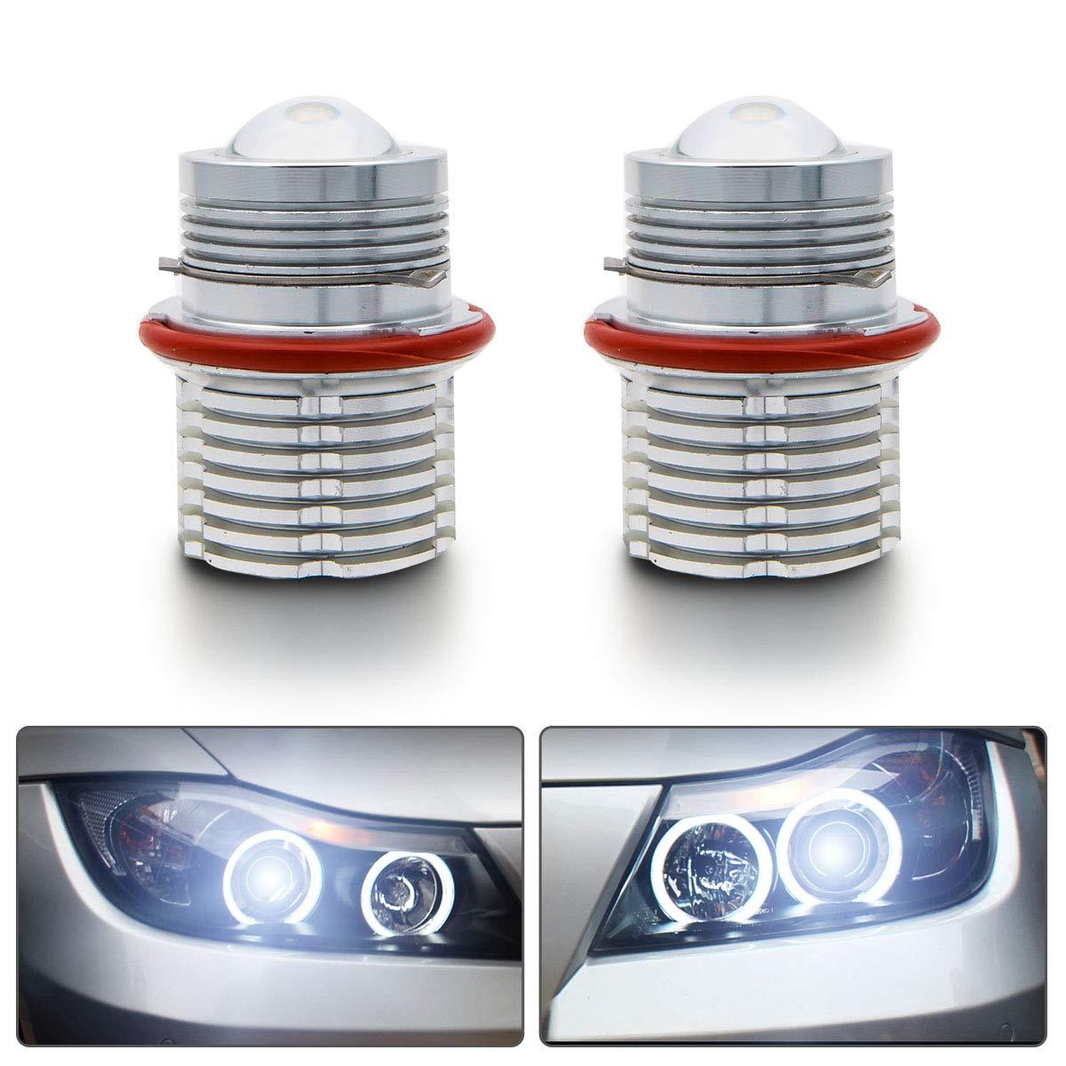 Angel Eyes Halo Ring Bulbs,Maso 90w CREE Led Day Time Lighting for E39 E60 E61 E87 E53 E63 E65 E83 OEM 63126904048 Xenon White