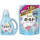 【まとめ買い】 ボールド 洗濯洗剤 液体 香りのサプリインジェル プラチナピュアクリーンの香り 本体 850g + 詰め替え 超特大 1.26kg