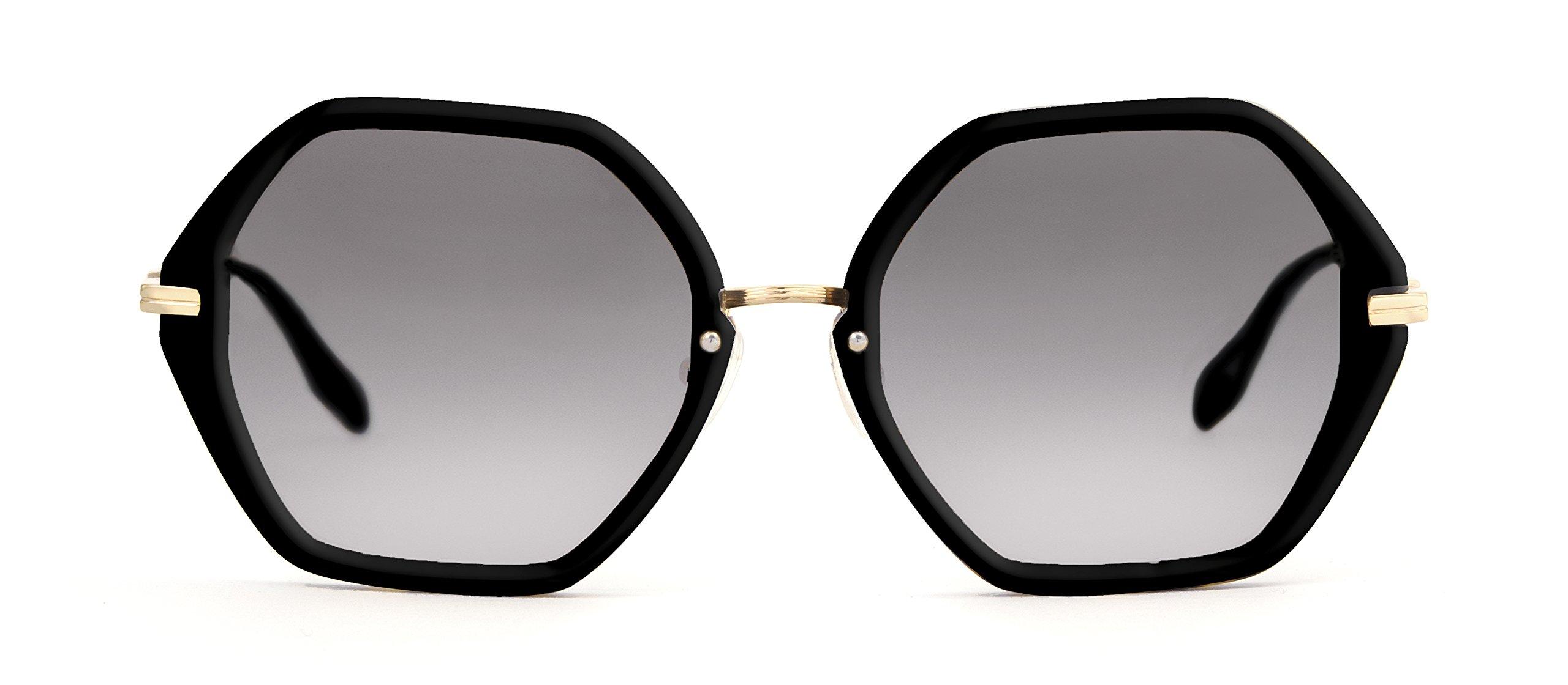 Sonix Women's Willow Sunglasses, Black/Black Fade, One Size
