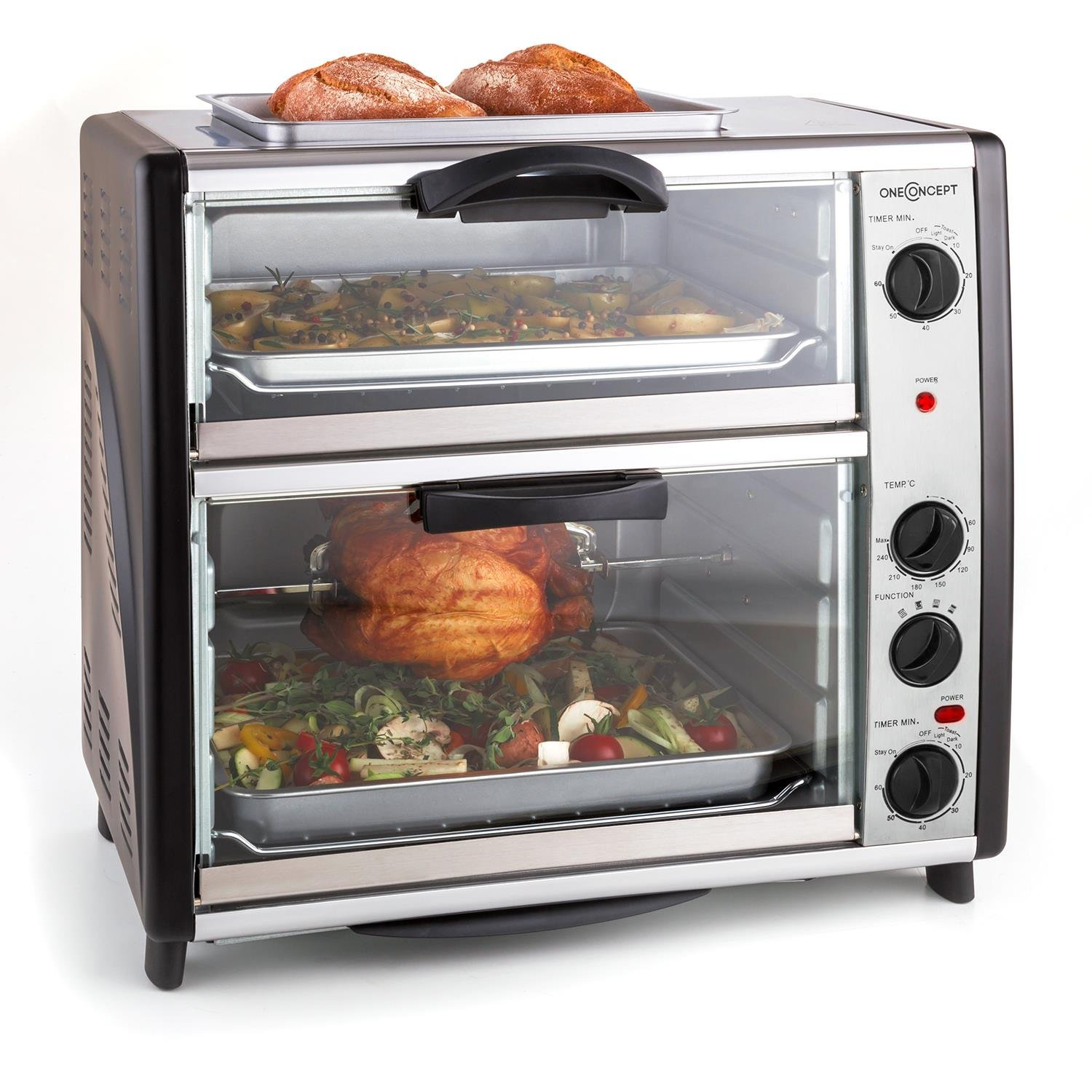 oneConcept All You Can Eat • Horno doble • Horno eléctrico •