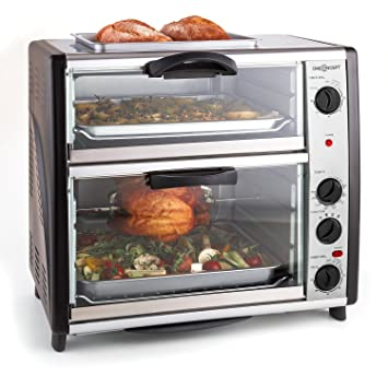 oneConcept All-You-Can-Eat • Horno doble • Plateado