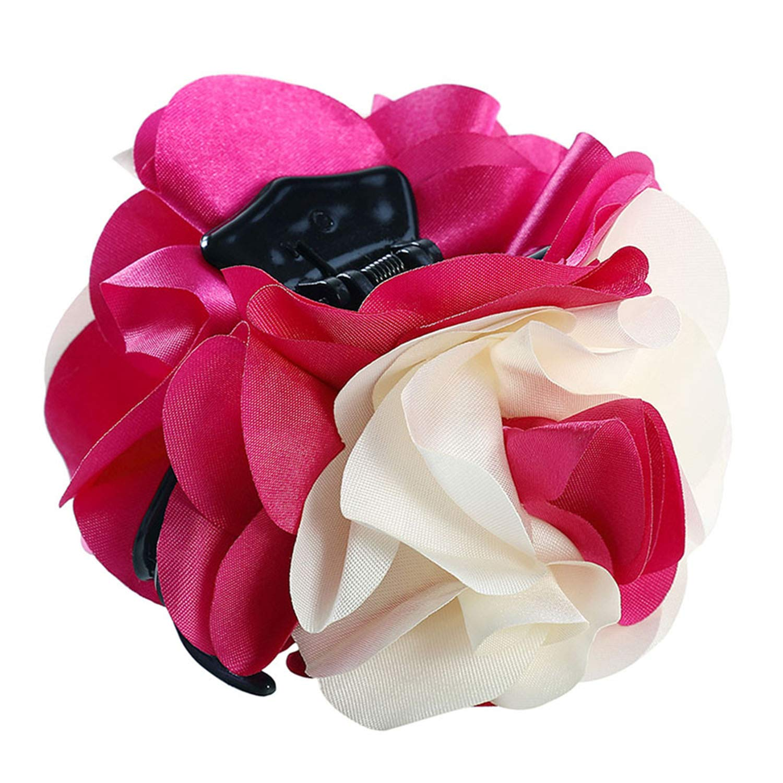 Amazon.com : Elegant Flower Hair Claws For Women Ladies ...